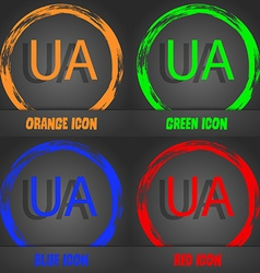 Ukraine sign icon symbol UA navigation Fashionable vector