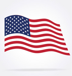 Usa flag flying vector
