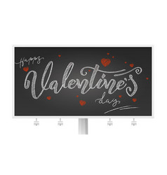 valentine day billboard with holidays lettering vector image