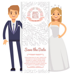 wedding banner template decorative flyer vector image