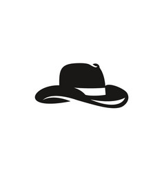 western cowboy hat silhouette vector image