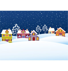 winter rural landscape vector image