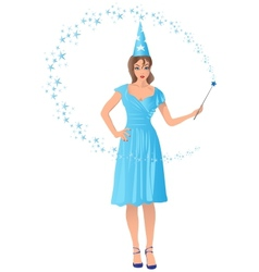 Wizard girl vector
