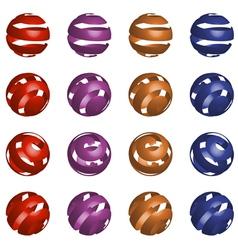 3d ball set vector image vector image