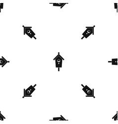 birdhouse pattern seamless black vector image vector image