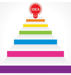 Different stairs required for idea stock vector image