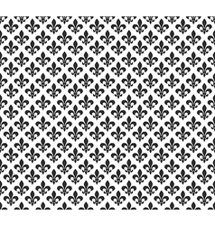 Fleur de lis black and white seamless pattern vector image vector image