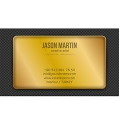 Golden creative business card vector image