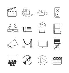 Movie icons vector
