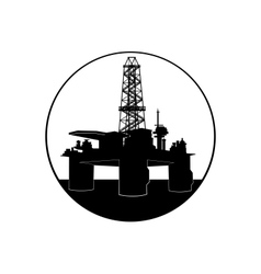 Oil drilling rig vector