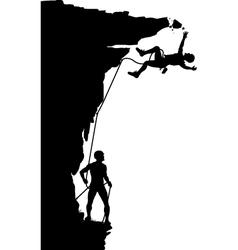 Climber fall vector image vector image