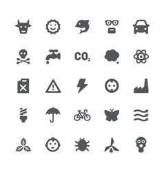 Eco energy icons set vector image
