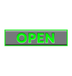 Open sign neon color vector