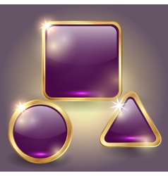 set of glass button templates vector image