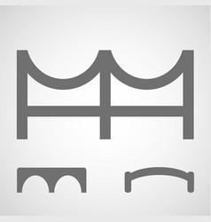 bridge icon set of simple bridge symbols vector image