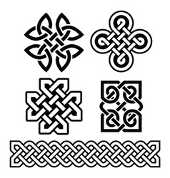 Celtic Irish patterns and braids - vector image