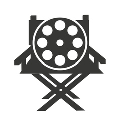 director chair with cinema icon vector image