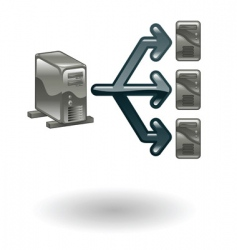 network illustration vector image vector image