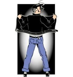 Rockabilly cool man vector image vector image