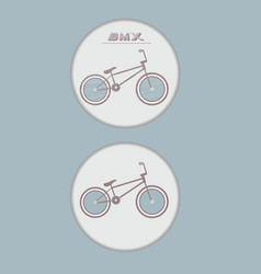 Bicycle badge vector image vector image