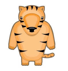 cartoon of a baby tiger vector image