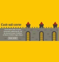 castle wall exterior banner horizontal concept vector image