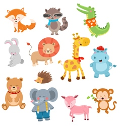 Cute Animal Collection vector image vector image