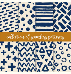 doodle artistic hand drawn textures collection vector image