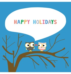 Happy holidays16 vector image