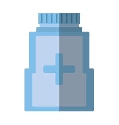 medicine bottle pill capsule healthcare shadow vector image
