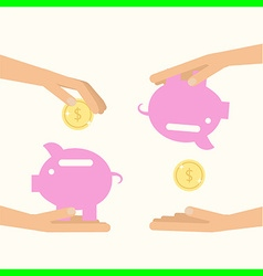 money saving and spending vector image