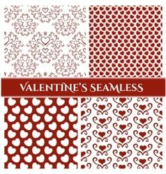 Valentines Day set seamless vector image