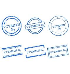 Vitamin B3 stamps vector image