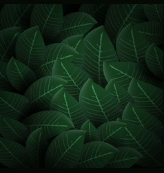 3d abstract natural green leaves pattern back vector