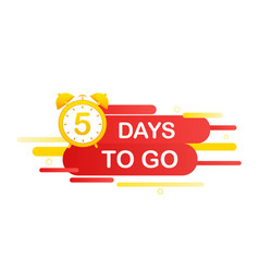 5 days to go in modern style special offer badge vector