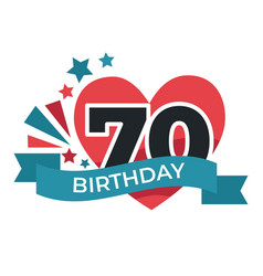 70 birthday anniversary celebration festive vector image