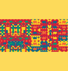 abstract colorful geometric design pattern vector image