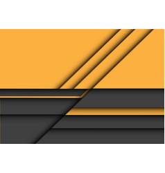 abstract yellow grey 3d overlap design modern vector image