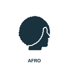 Afro icon simple element from beauty salon vector
