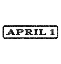 april 1 watermark stamp vector image