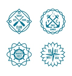 Assorted Hipster Logos on White Background vector image