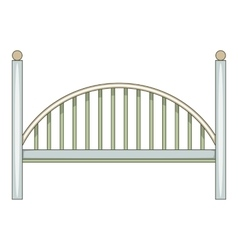 Bridge icon cartoon style vector