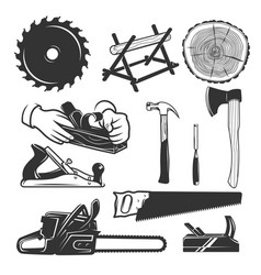 Carpentry tools logo templates vector