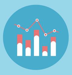 chart bar diagram icon sales data vector image