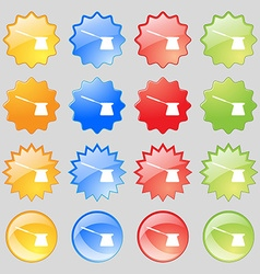 Coffee turk icon sign Big set of 16 colorful vector image