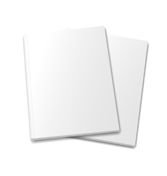 collection various blank white books on white vector image