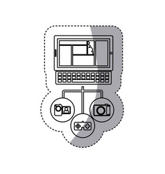 Computer database server icon stock vector