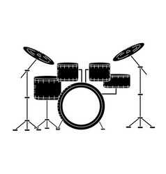 Contour drums musical instrument to play music vector