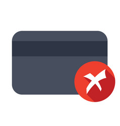 credit card declined vector image