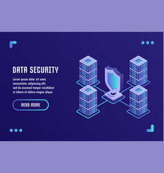 Data protection and internet security vector